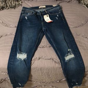 Zara mid ride jeans